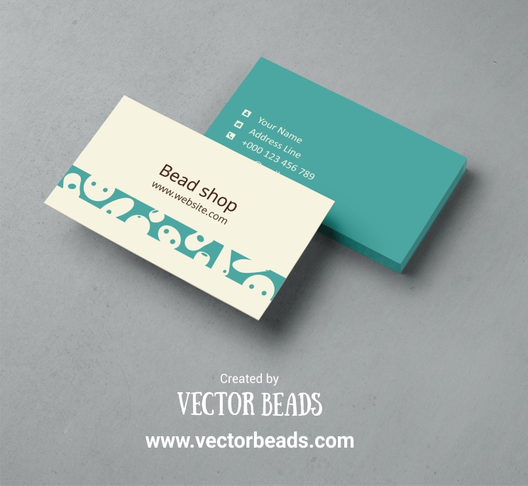 Free business card template design | Vector Beads