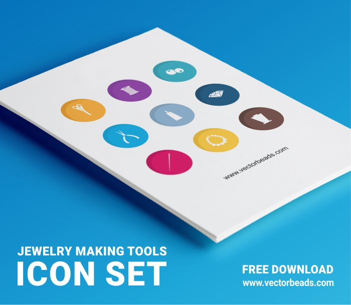 Free icon set of jewelry making tools