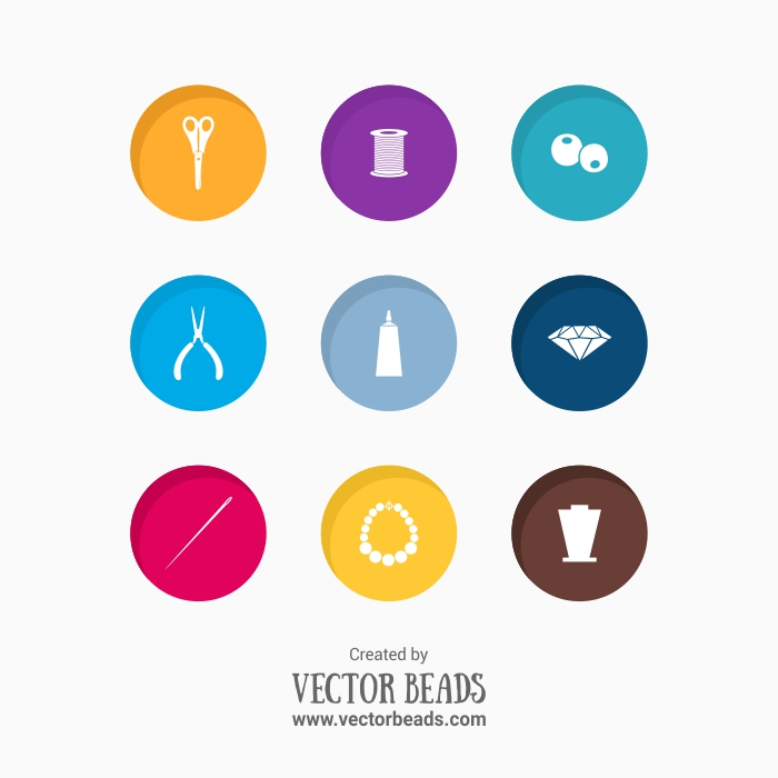 Jewelry making free vector icons