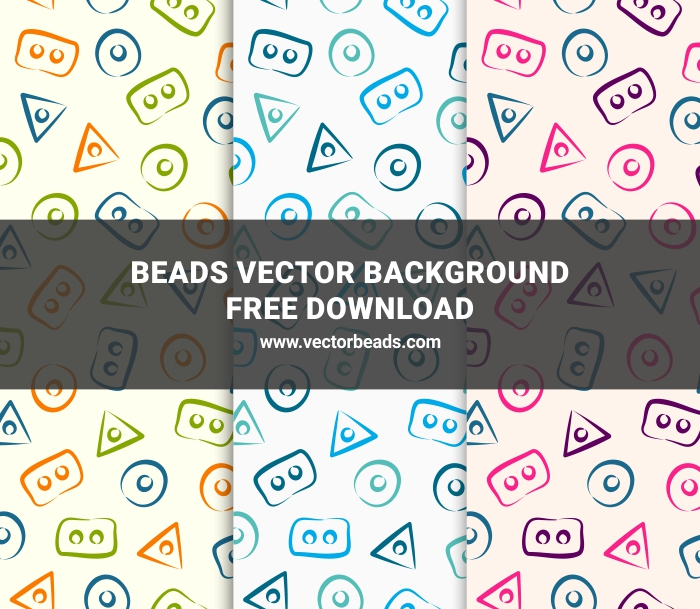 Free vector beads background